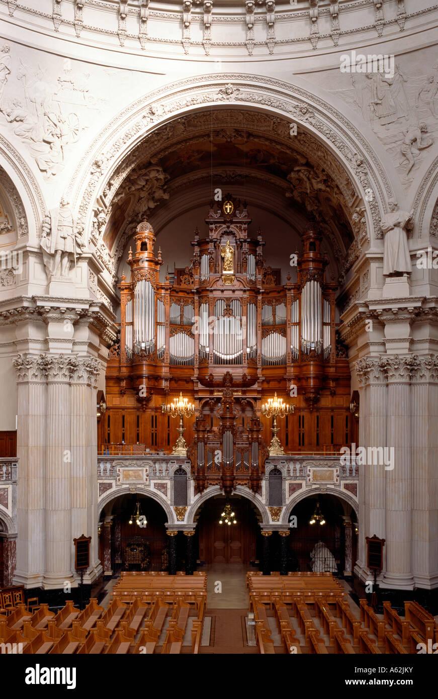 Berlin, Dom, Orgel von Wilhelm Sauer - Stock Image