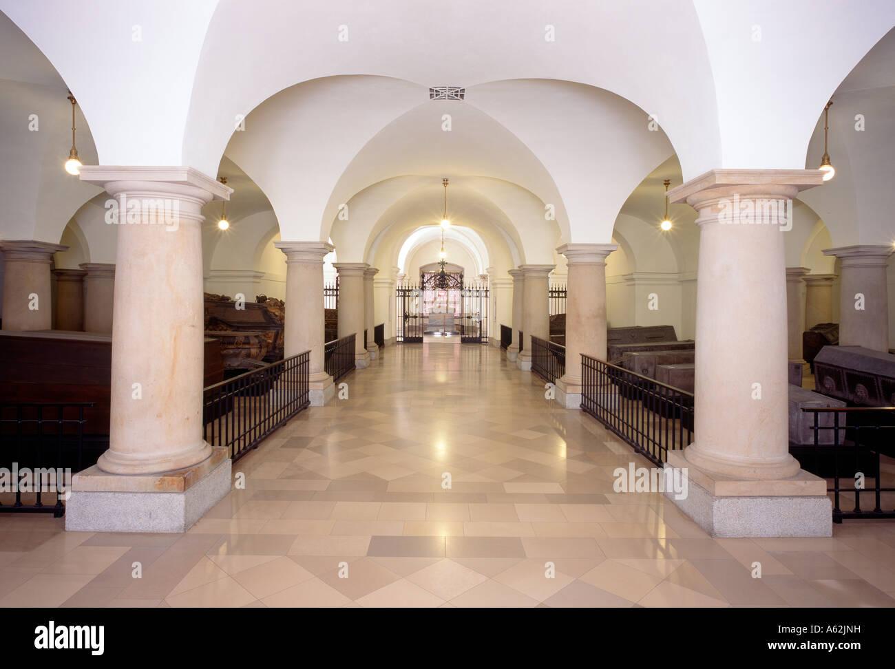 Berliner Dom, Hohenzollerngruft, Blick nach Osten - Stock Image