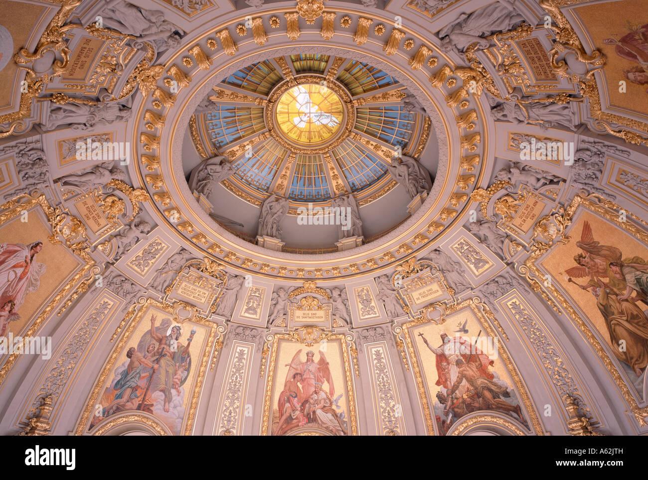 Berlin, Dom, Mosaike in der Kuppel - Stock Image