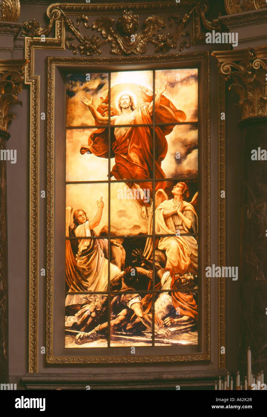 Berlin, Dom, Fenster hinter dem Altar - Stock Image