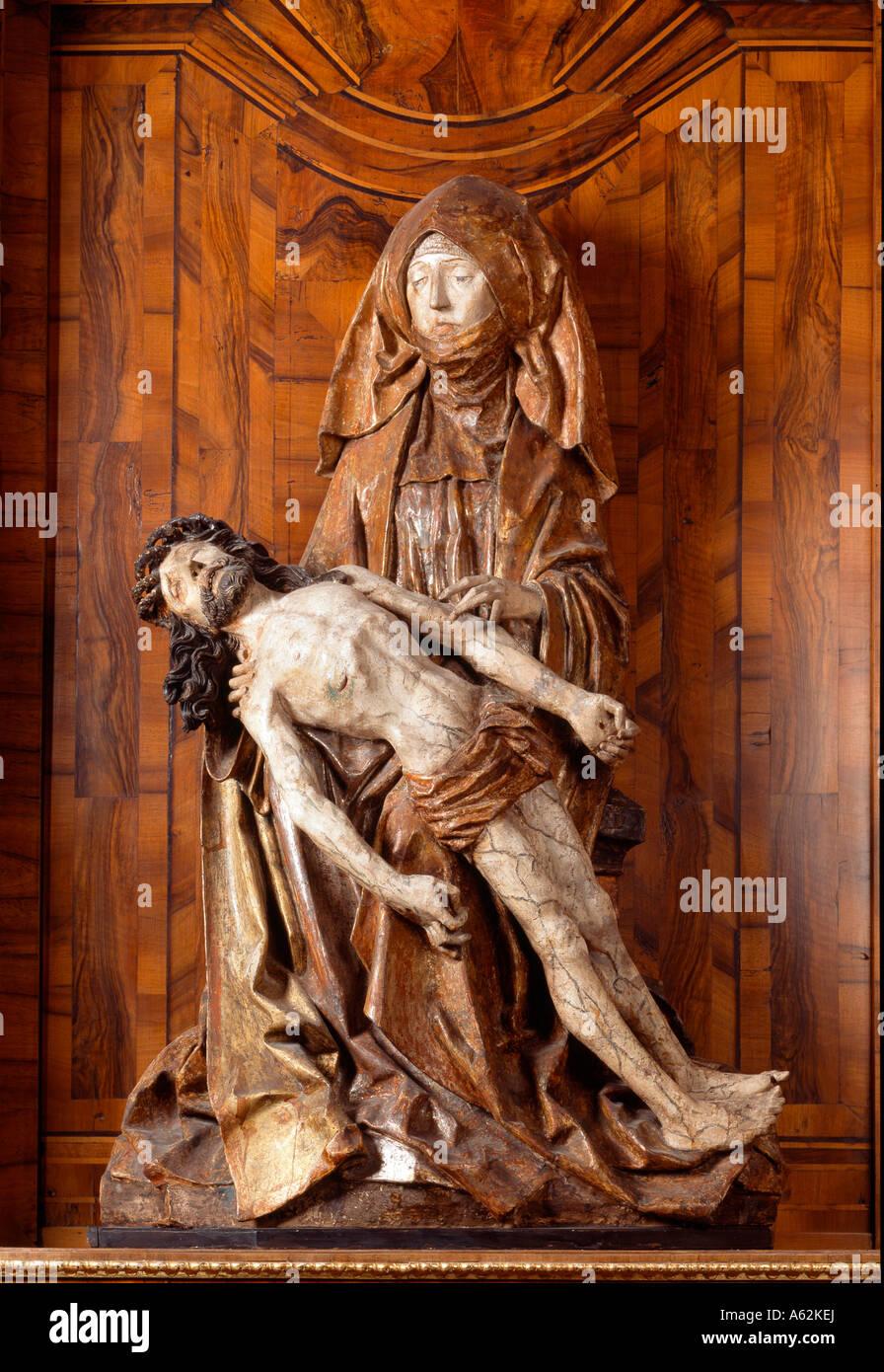 Mainz, St. Quintin, Pieta am südlichen Seitenaltar - Stock Image