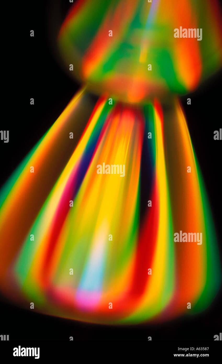 spectrum of light - Stock Image