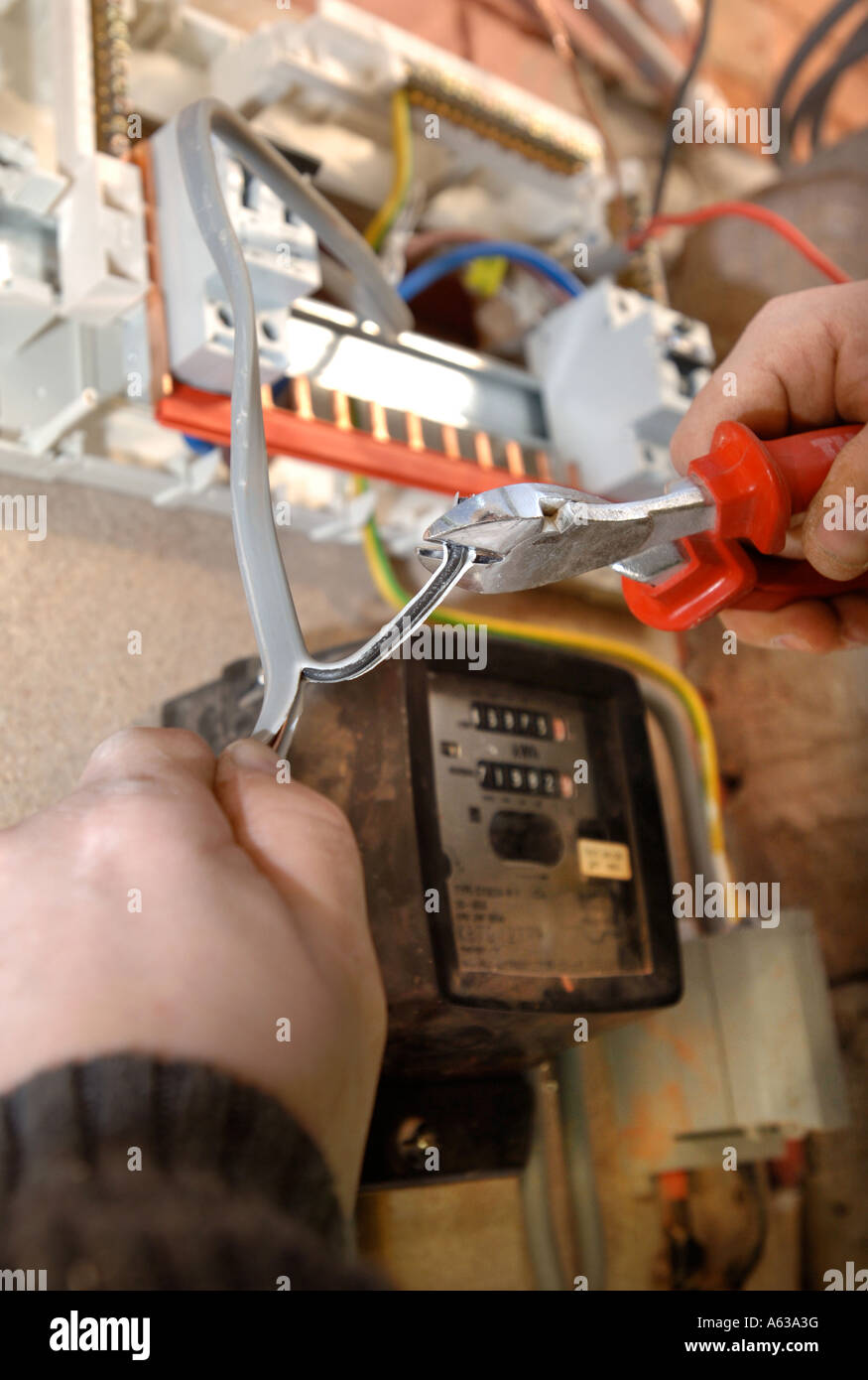 Old Switch Boxes Stock Photos Images Alamy Cartoon Electrical Fuse Box An Electrician Removes Electricity And Installs A Memera Consumer Unit Uk