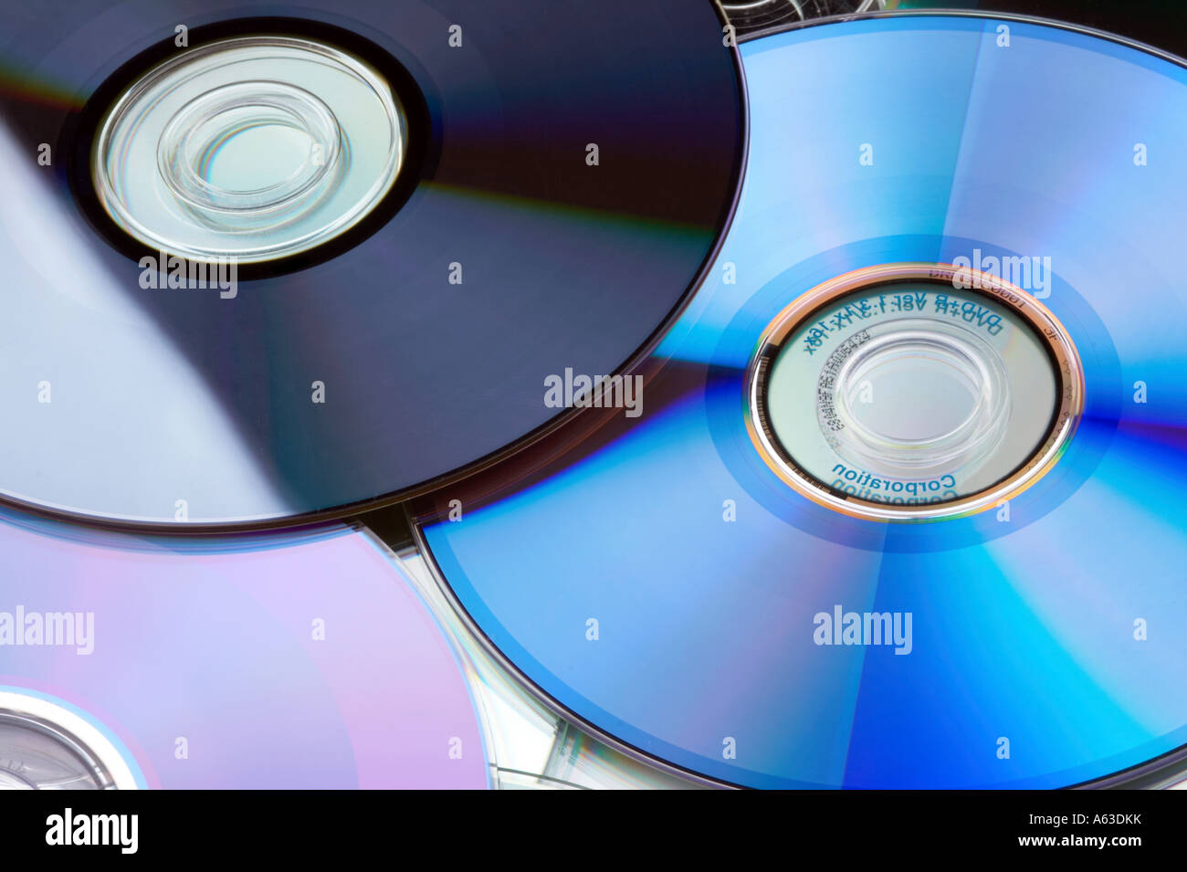 Many multicolored DVD / CD Stock Photo