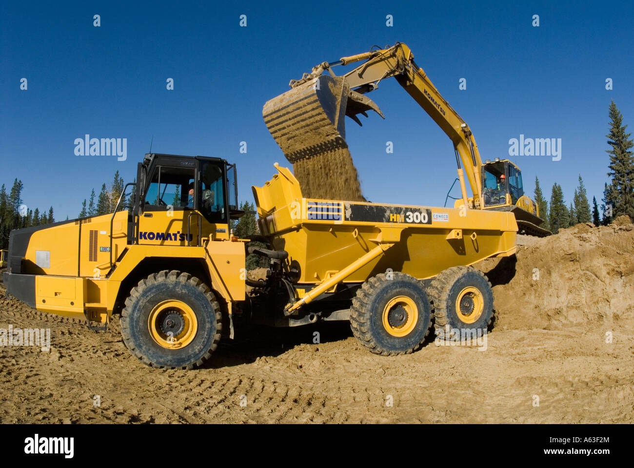 Loading Truck side view. - Stock Image