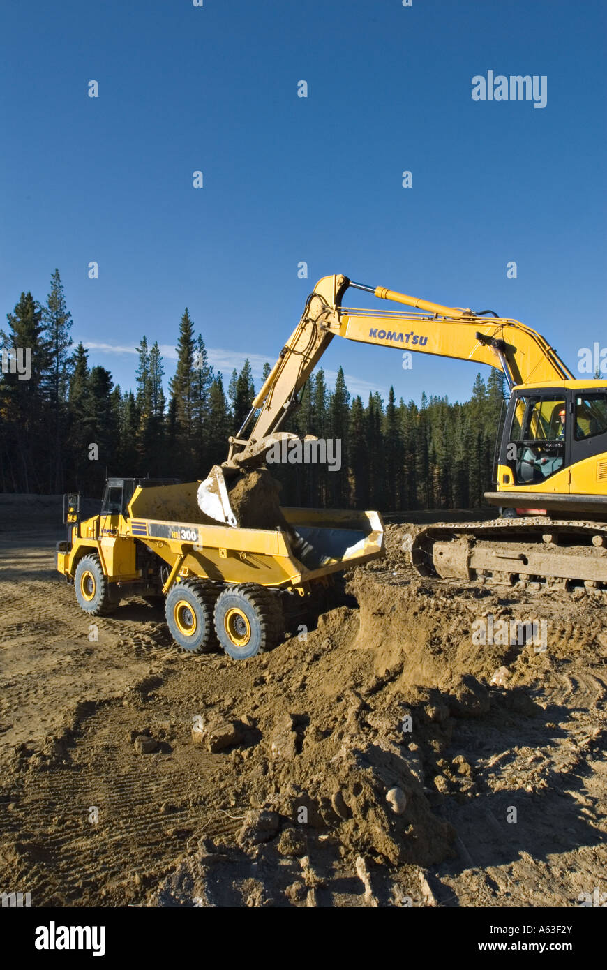 Loading Truck at a construction site. - Stock Image