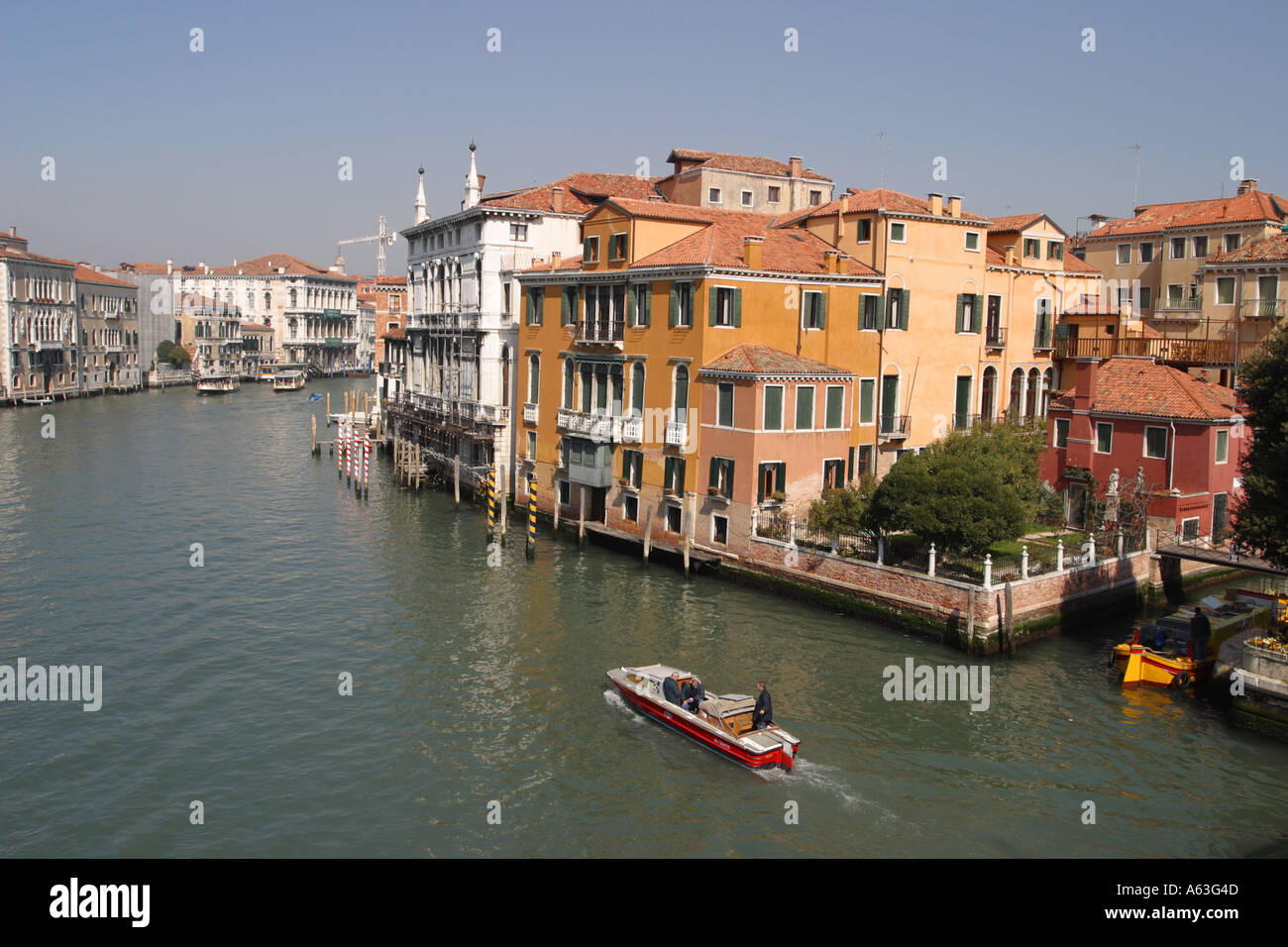 The Grand Canal Venice seen from the Academia Bridge Venice Italy taken 2005 - Stock Image