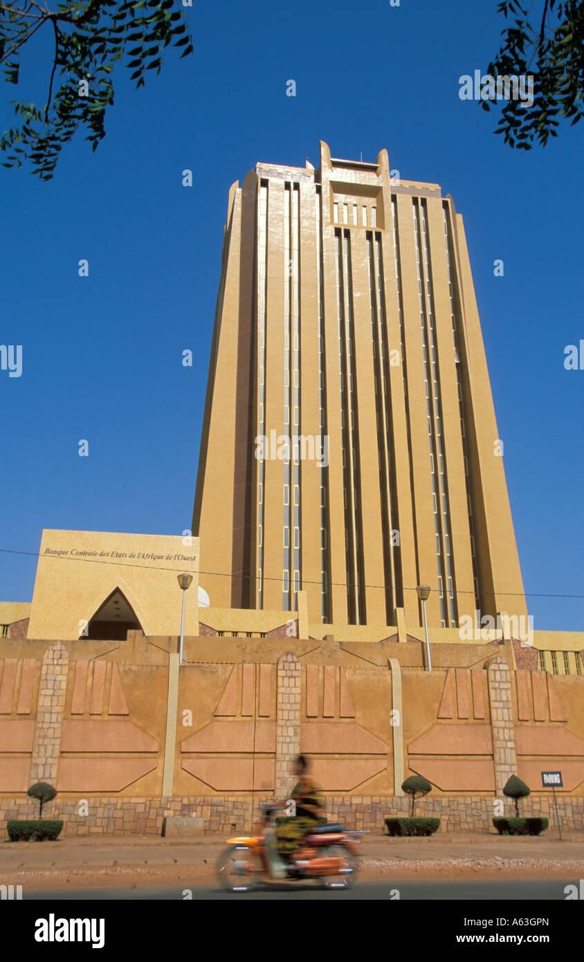 The Banque Centrale des Etates de L'Afrique de L'Ouest, Bamako, Mali - Stock Image