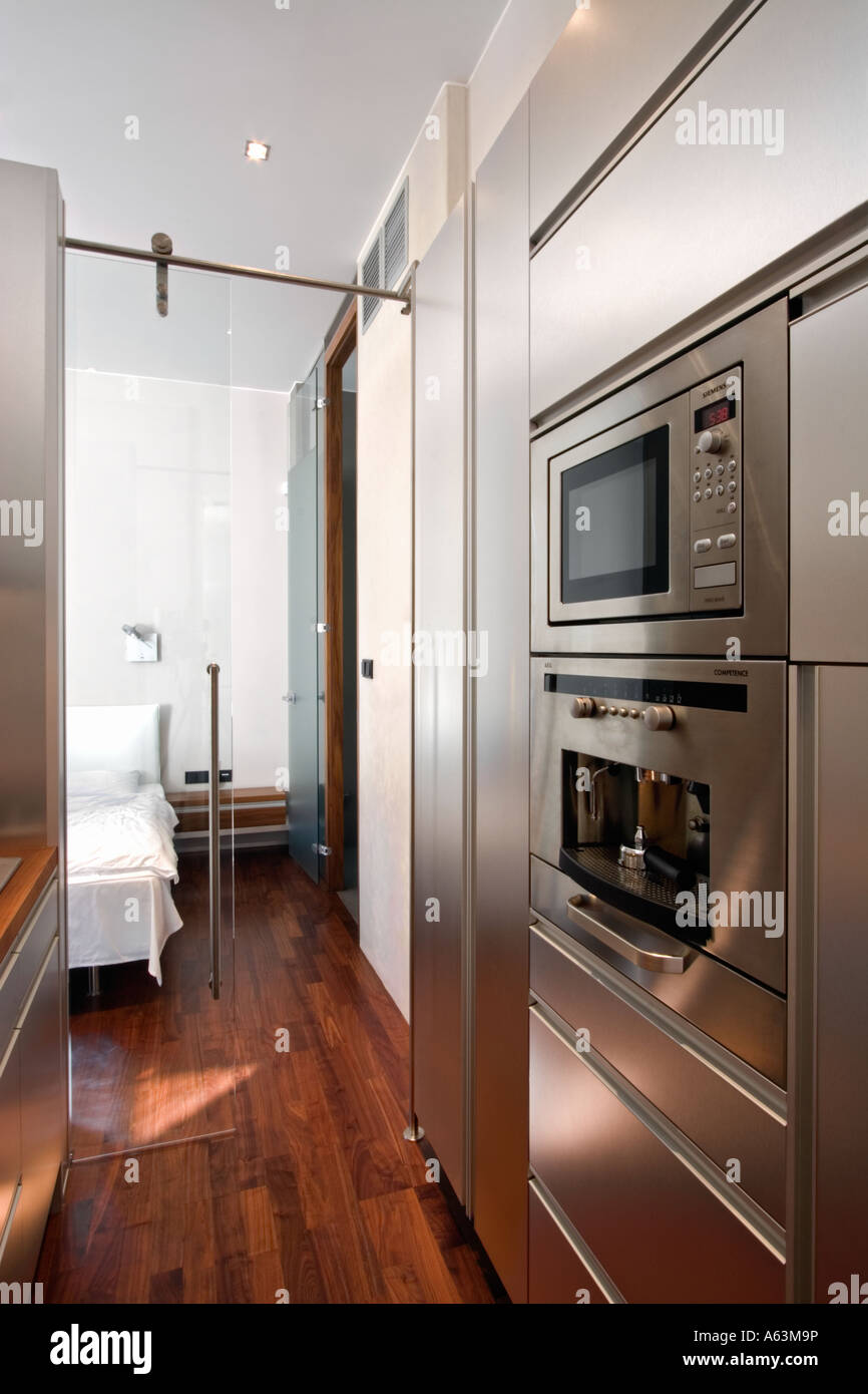 Modern Kitchen with oven Stock Photo