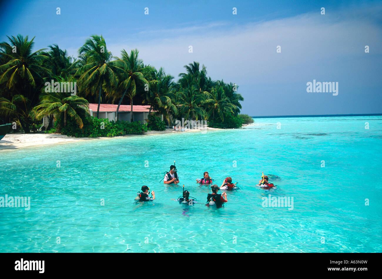 Diving School At Holiday Resort Island Of Villivaru Maldives