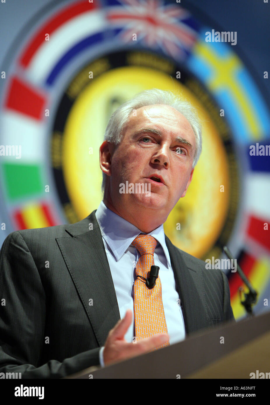 John Fleming, President and CEO Ford of Europe during the Car of the Year 2007 Award Ceremony for Ford S-MAX - Stock Image