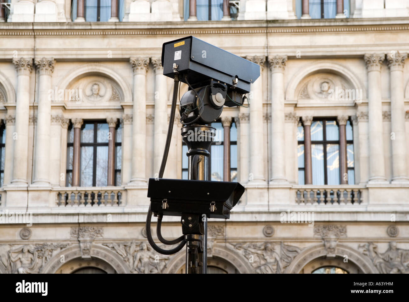 CCTV security cameras London England UK Stock Photo
