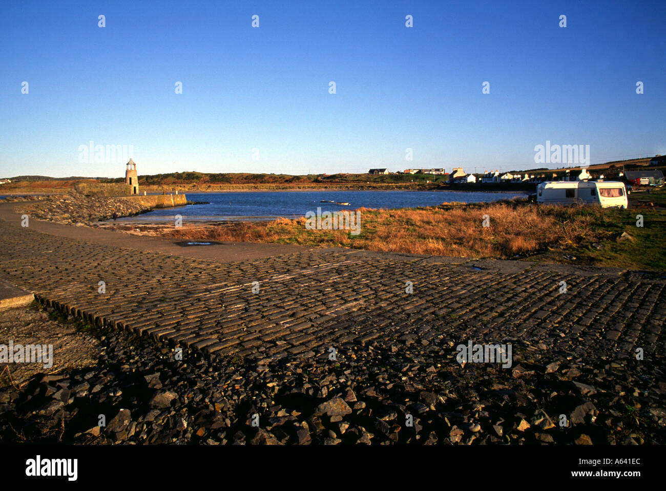 Harbour wall - Stock Image