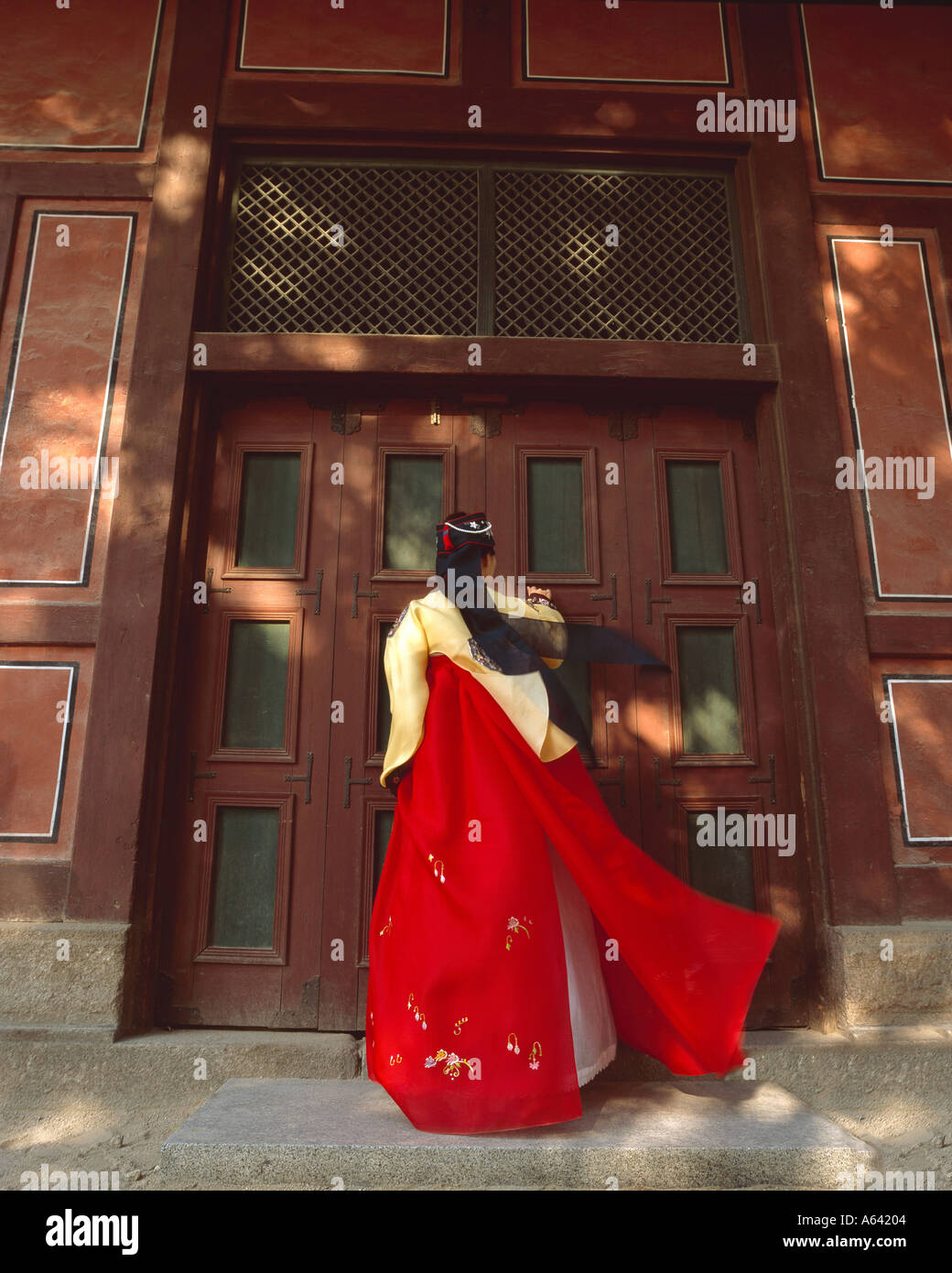 Traditional dress, Seoul, Korea - Stock Image