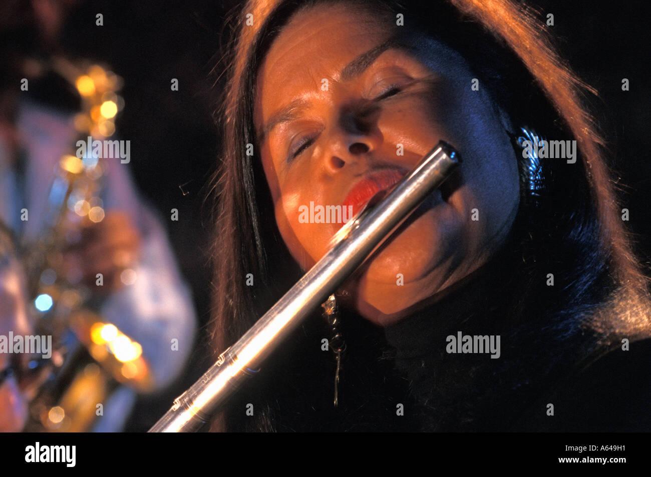 Jazz flautist - Stock Image