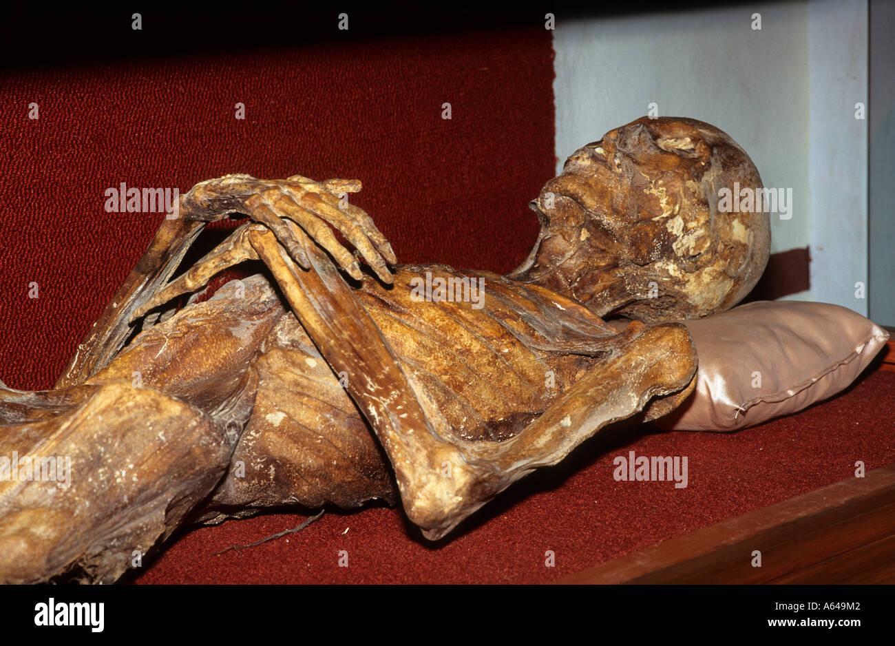 Mexico Guanajuato city Panteon mummy museum - Stock Image