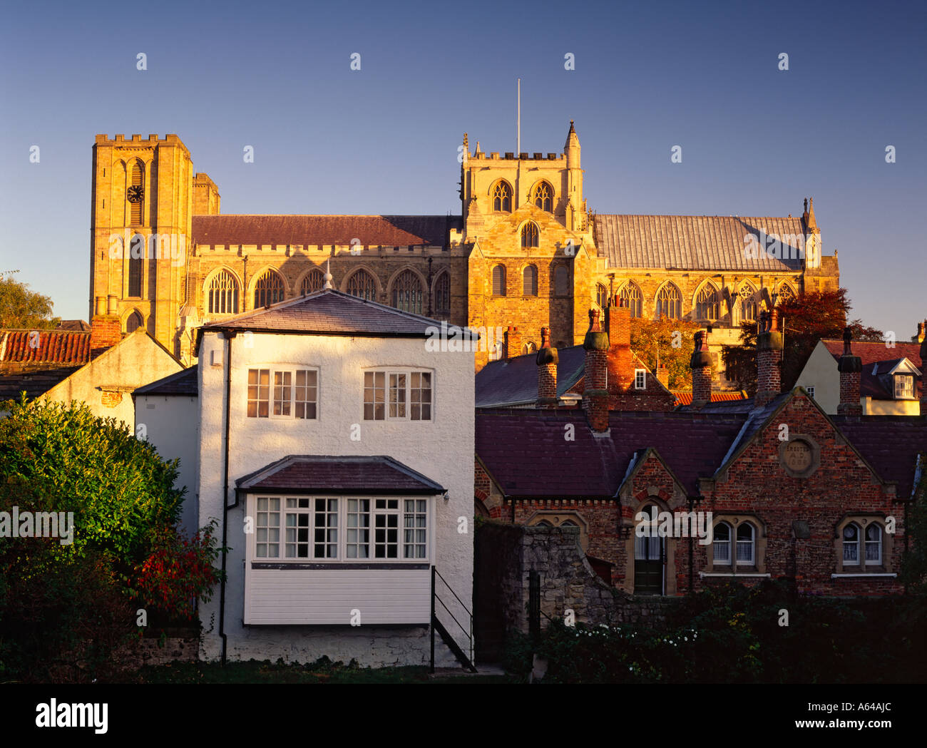Ripon Cathedral in North Yorkshire - Stock Image