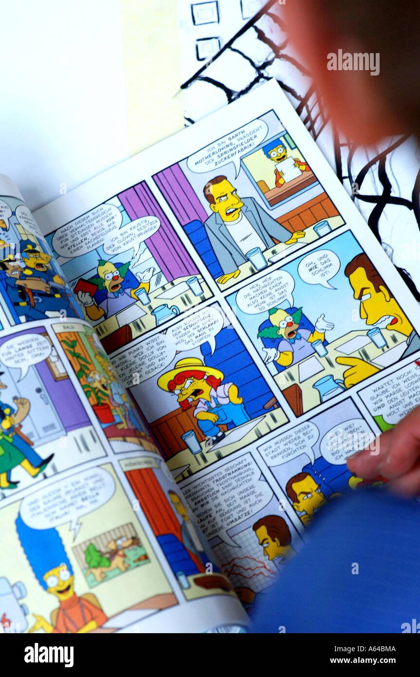 Simpsons comics strip - Stock Image