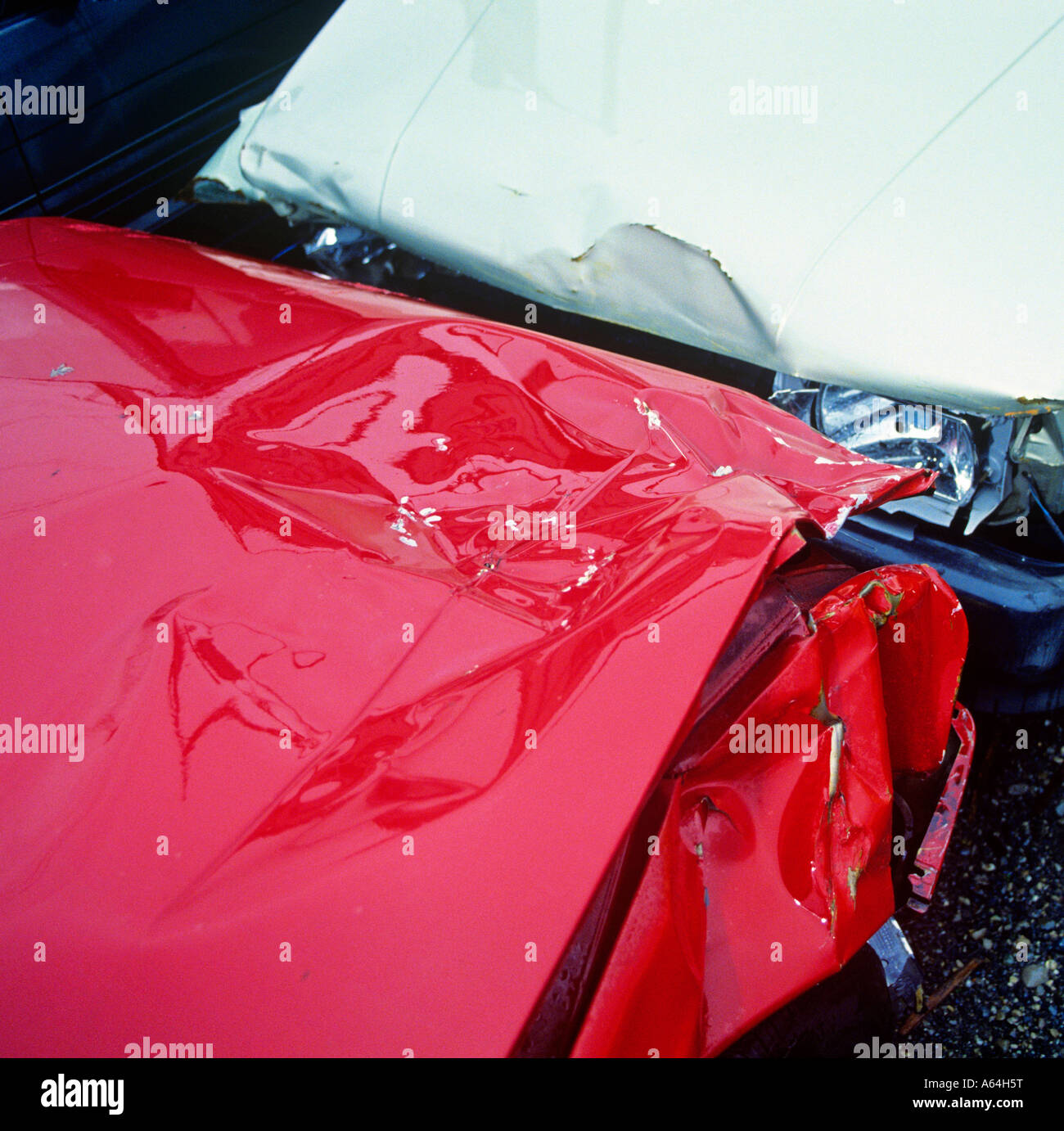 Accident Damaged Cars Stock Photos & Accident Damaged Cars