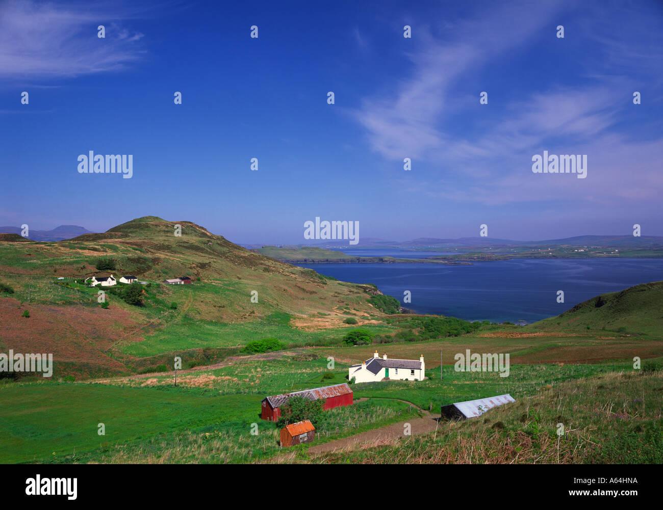 Fiskavaig Bay on the Isle of Skye. Stock Photo