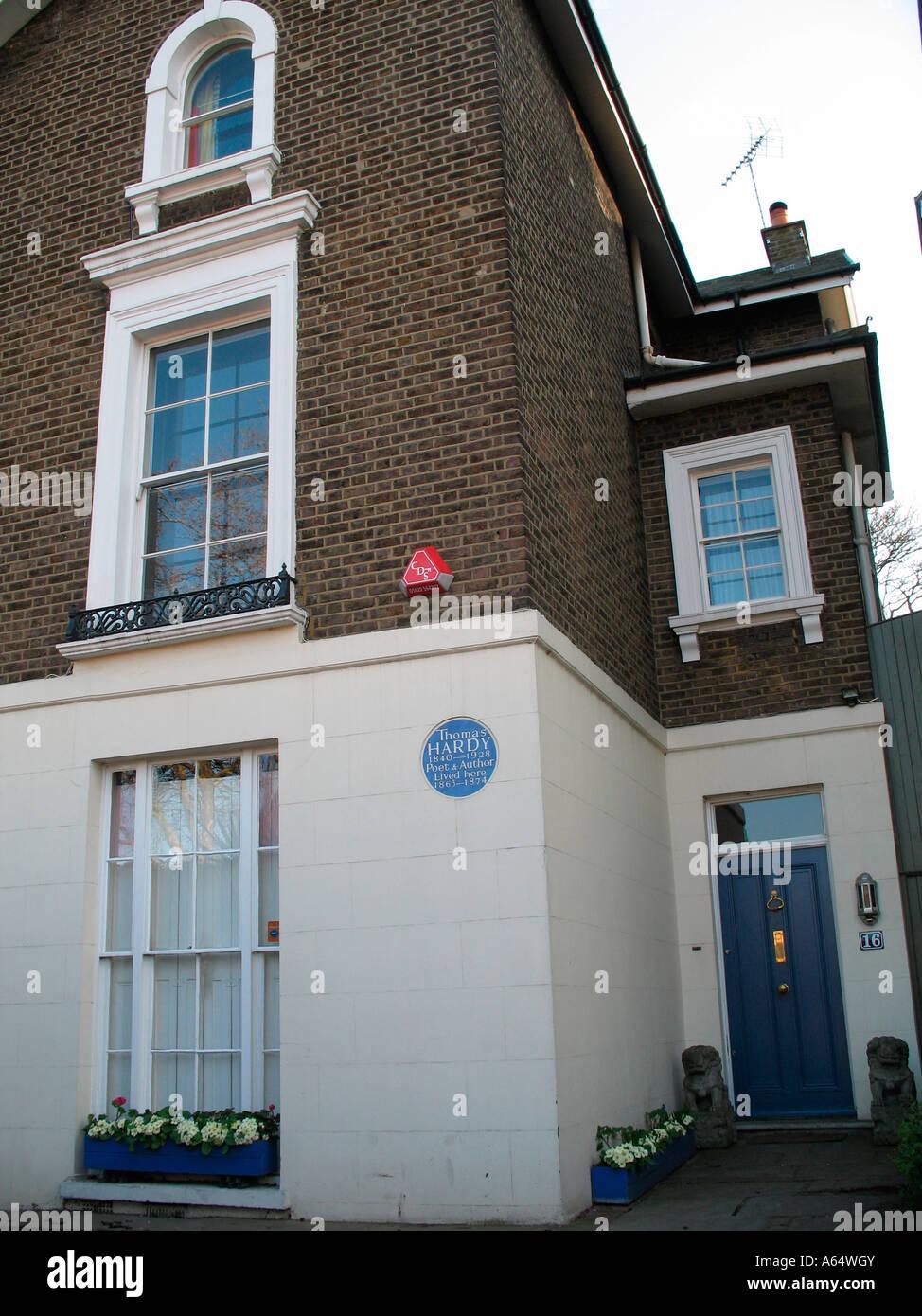 Thomas Hardy lived here London England - Stock Image