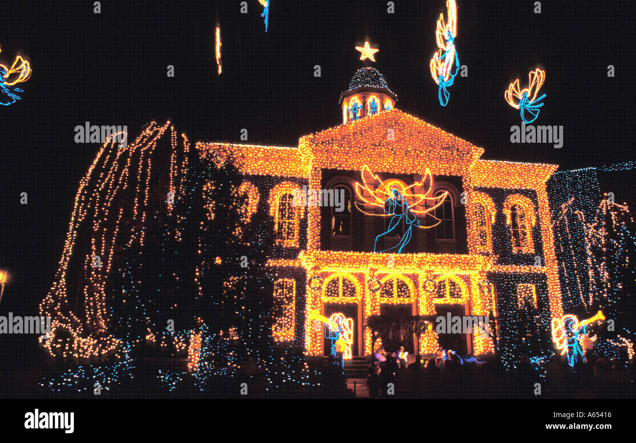 The Osborne Family Christmas Lights Are Seen At Epcot Center Shortly Before  Christmas