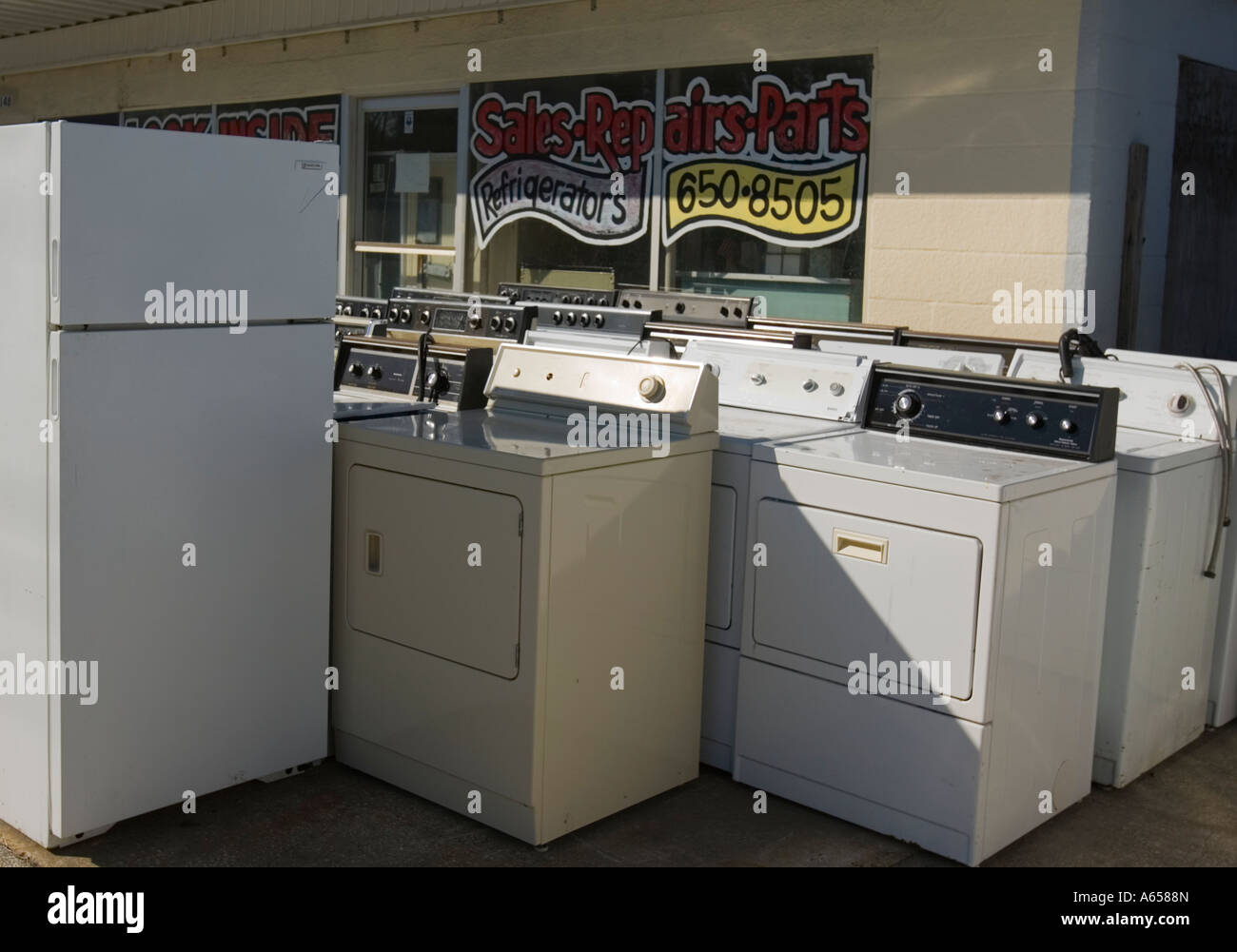 Used appliances for sale Stock Photo: 11464868 - Alamy