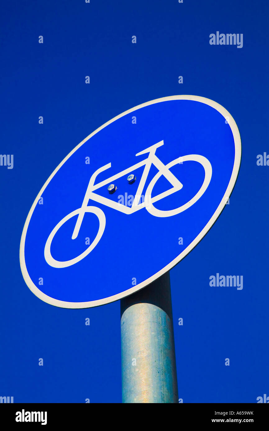 Cycle Track Sign Bicycle Sign Fahrradweg - Stock Image