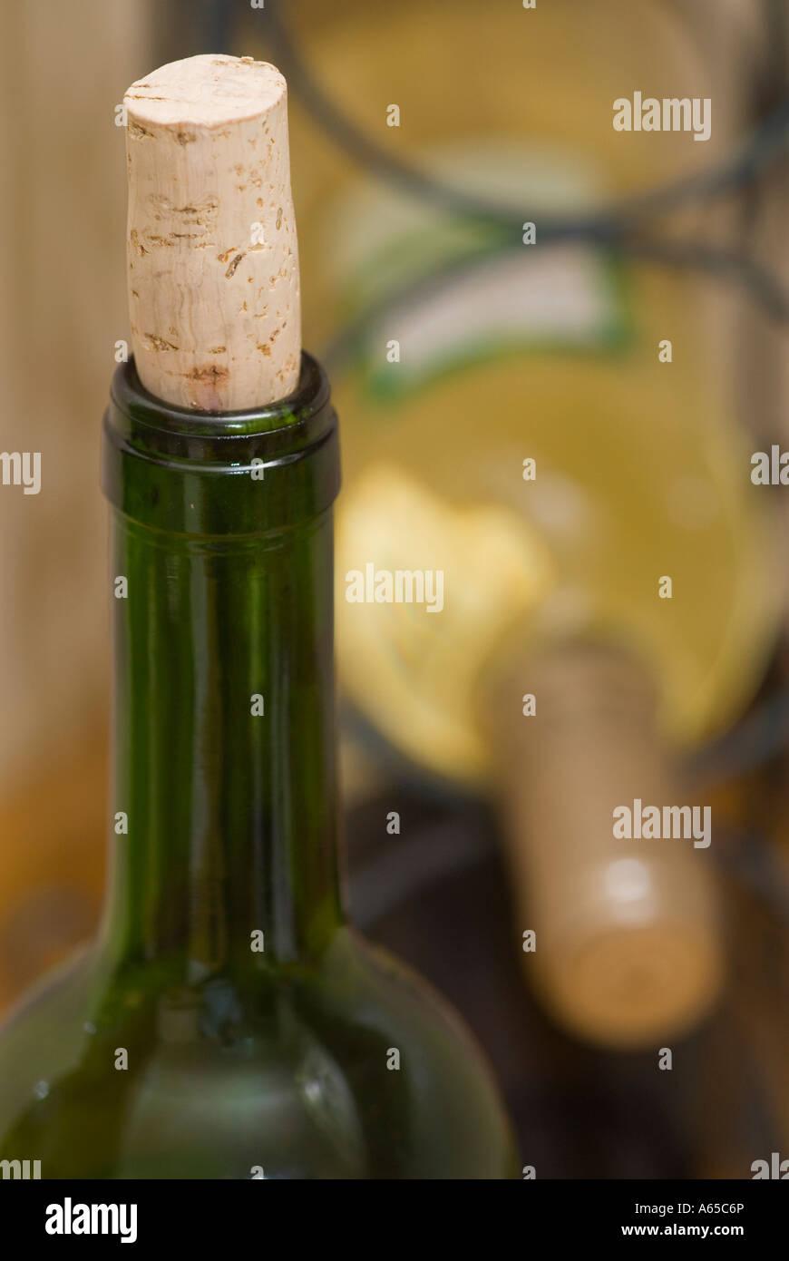 Opened Wine Bottle Cork Put Stock Photos Opened Wine Bottle Cork