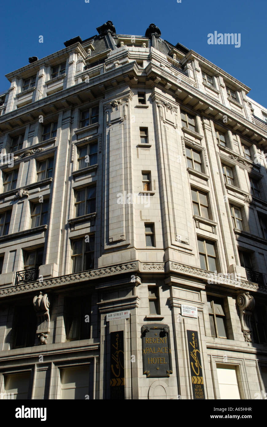 Exterior of the Regent Palace Hotel near Piccadilly Circus London