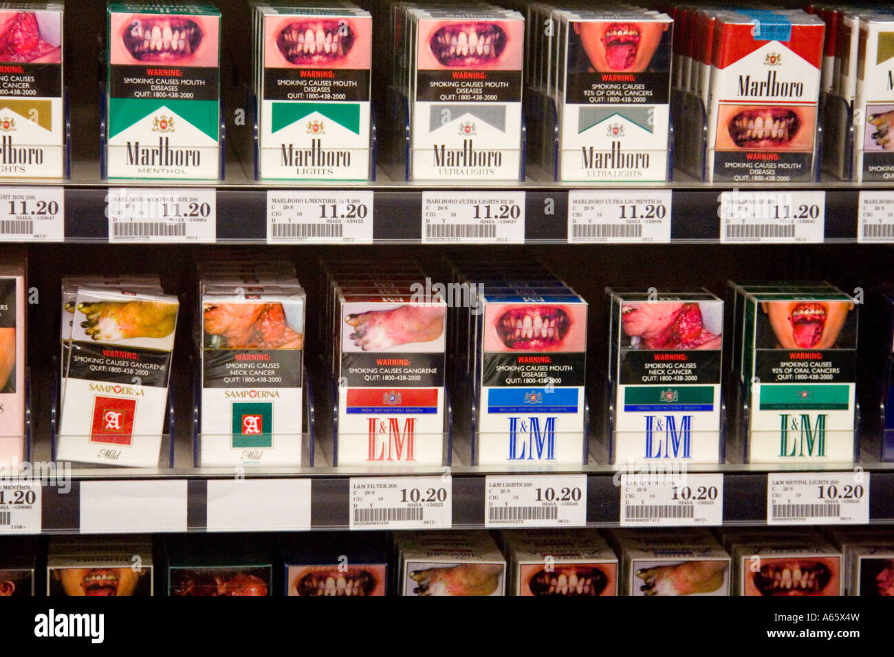 b1ff2227a0 Cigarette Packs with Graphic Photograph Warning Labels Legally Required,  Singapore