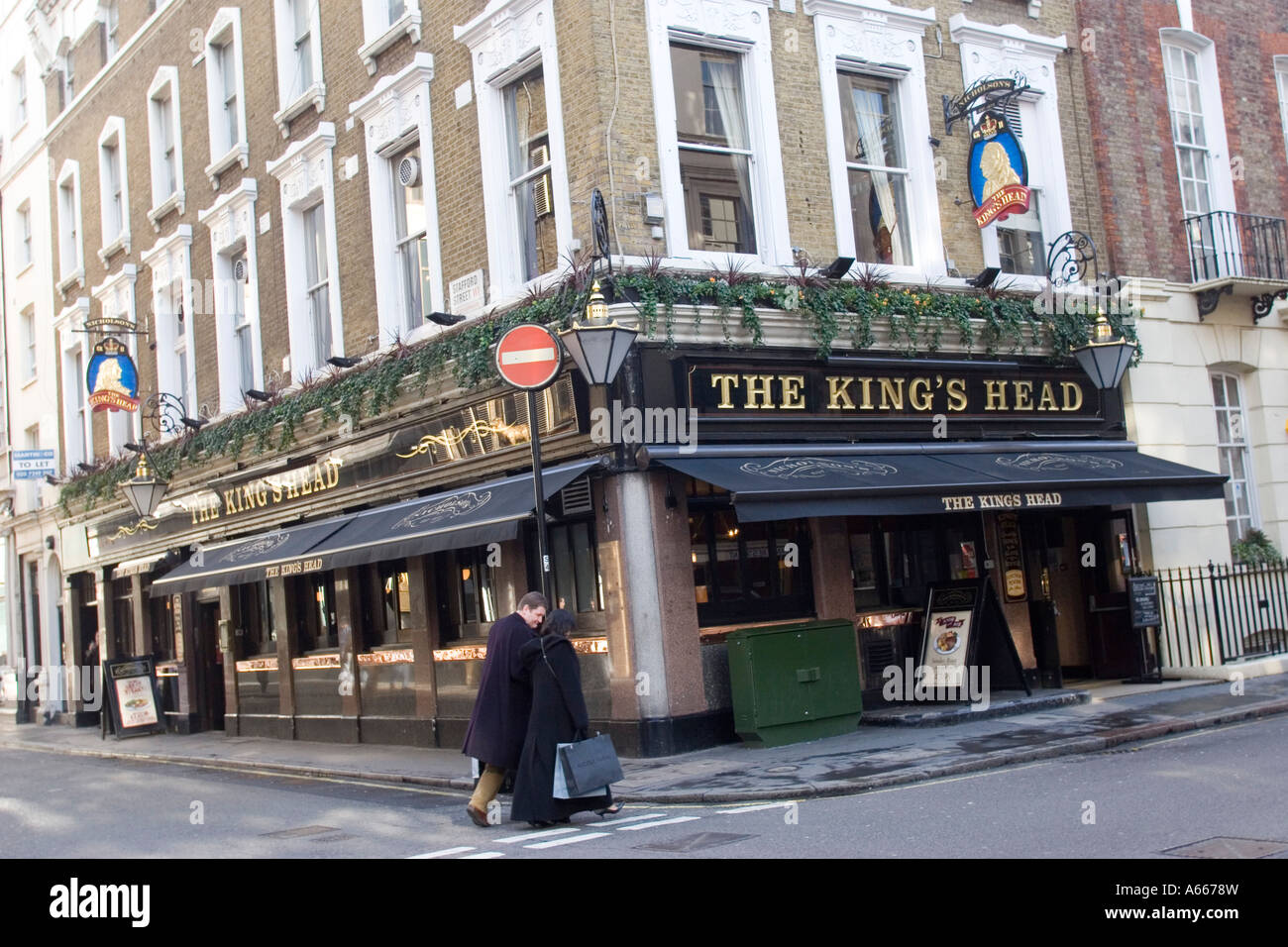 The Kings Head Public house, on the corner of Albemarle Street and Sutton Street London GB UK - Stock Image