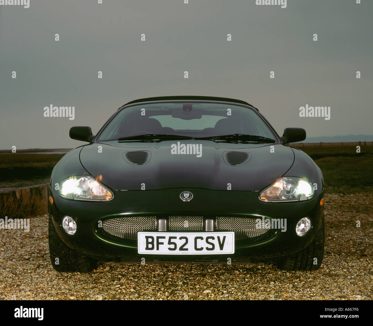2002 Jaguar XKR convertible - Stock Image
