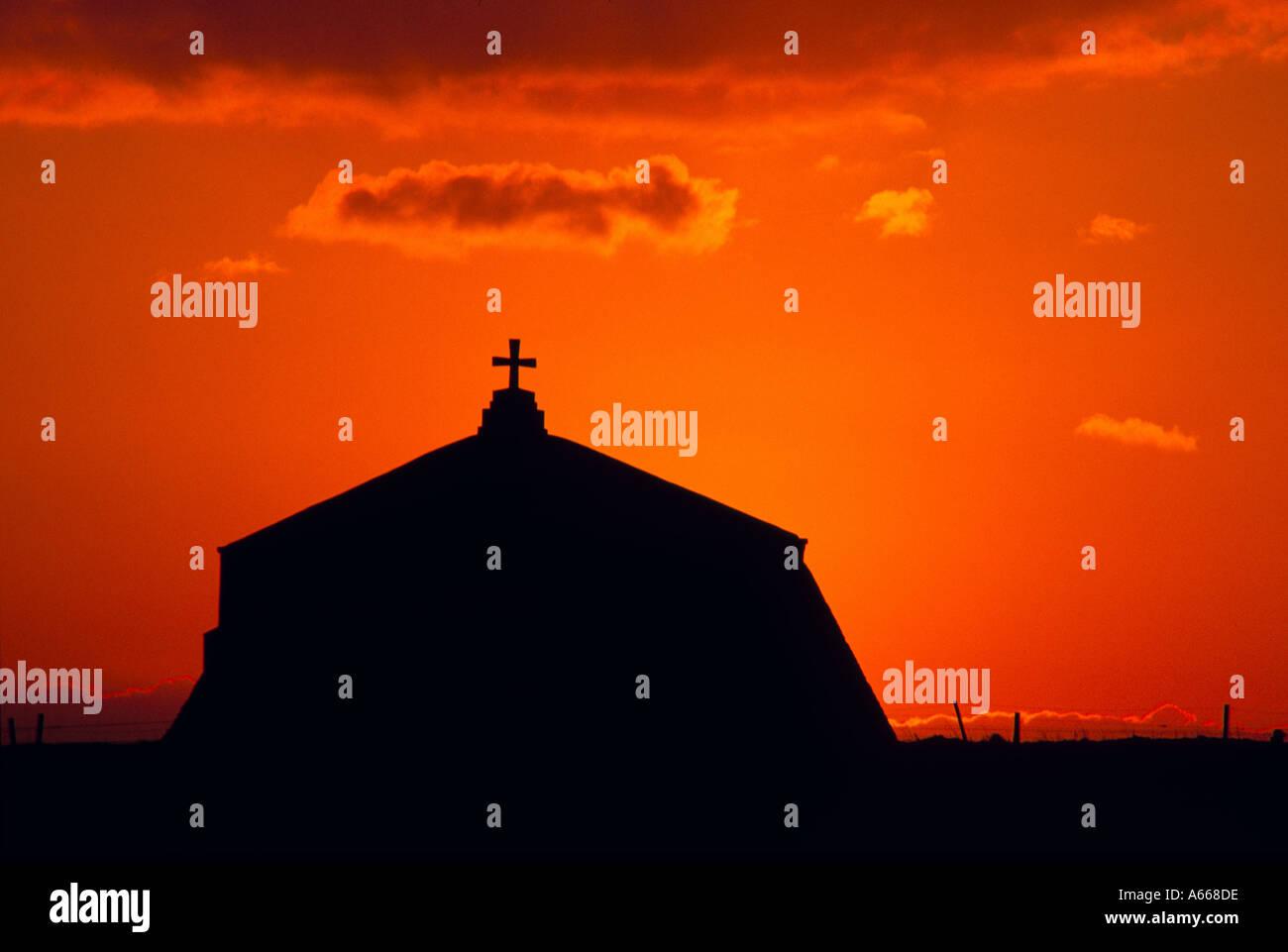 St Aldhelm s Chapel Dorset at sunset Stock Photo