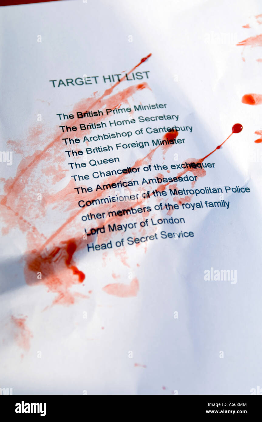 A Terrorist Hit List Of Politicians And Other Important People