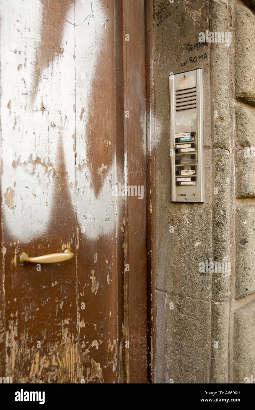 Run down house entrance - Stock Image