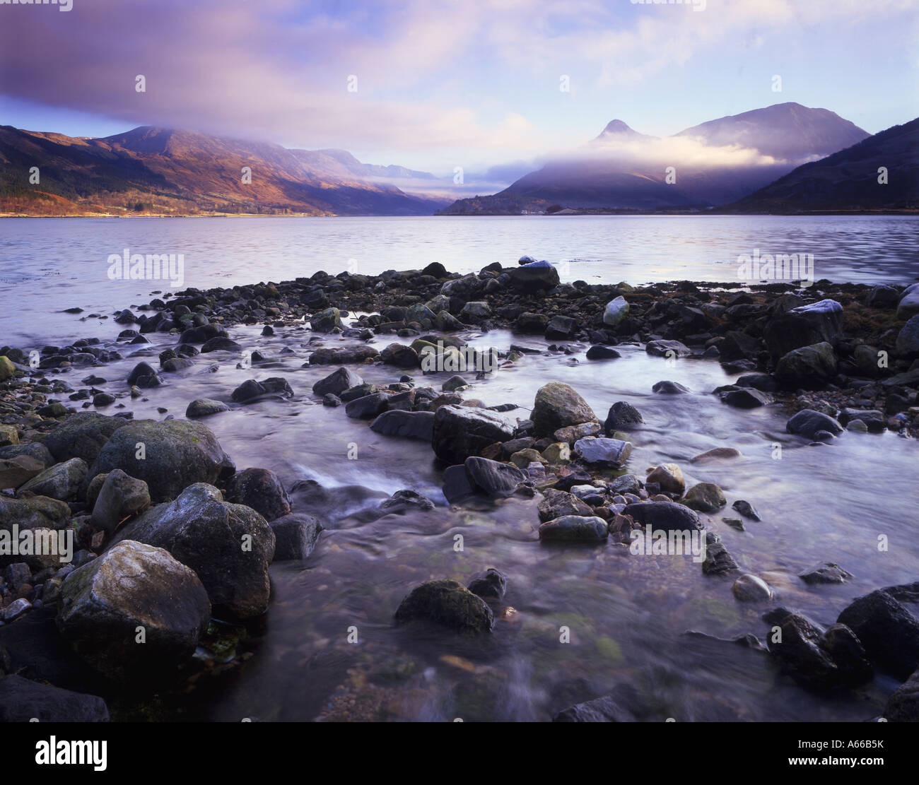 The Pap of Glencoe and Loch Leven - Stock Image