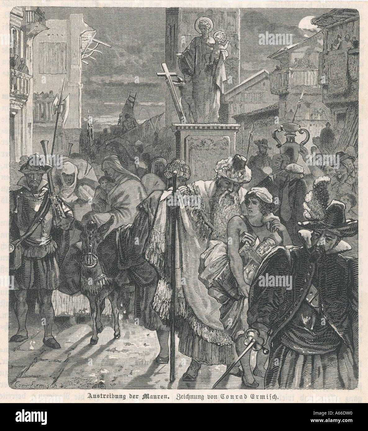 Expulsion Of The Moors - Stock Image