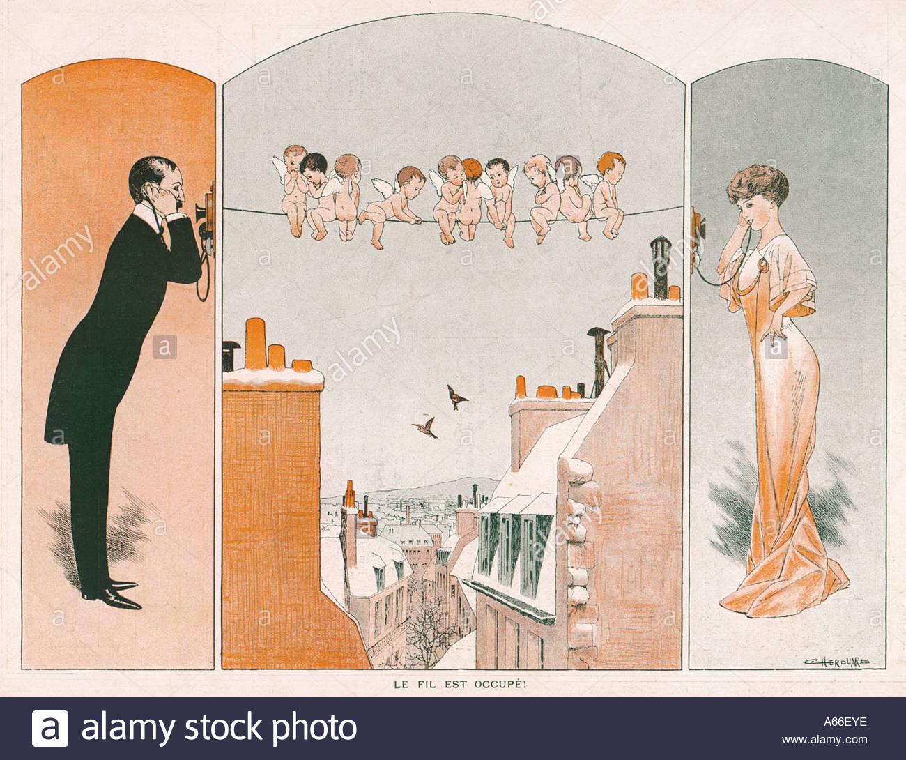 Fil De Joie 1908 - Stock Image