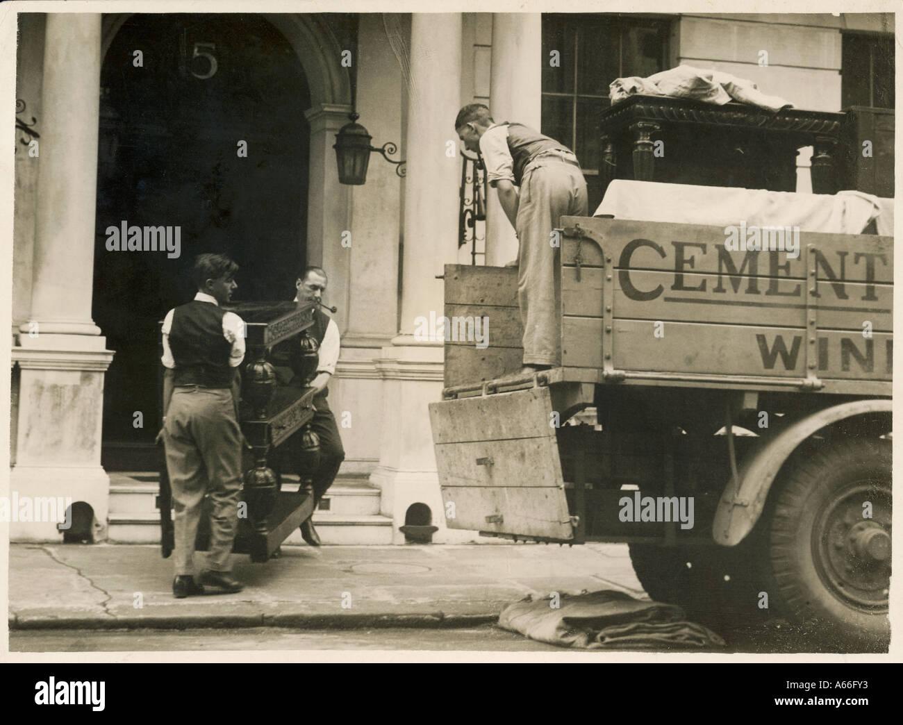 Removal Men 1929 Stock Photo