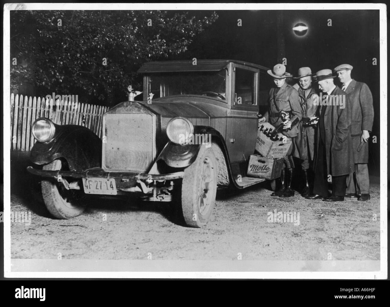 Police Bootleggers - Stock Image
