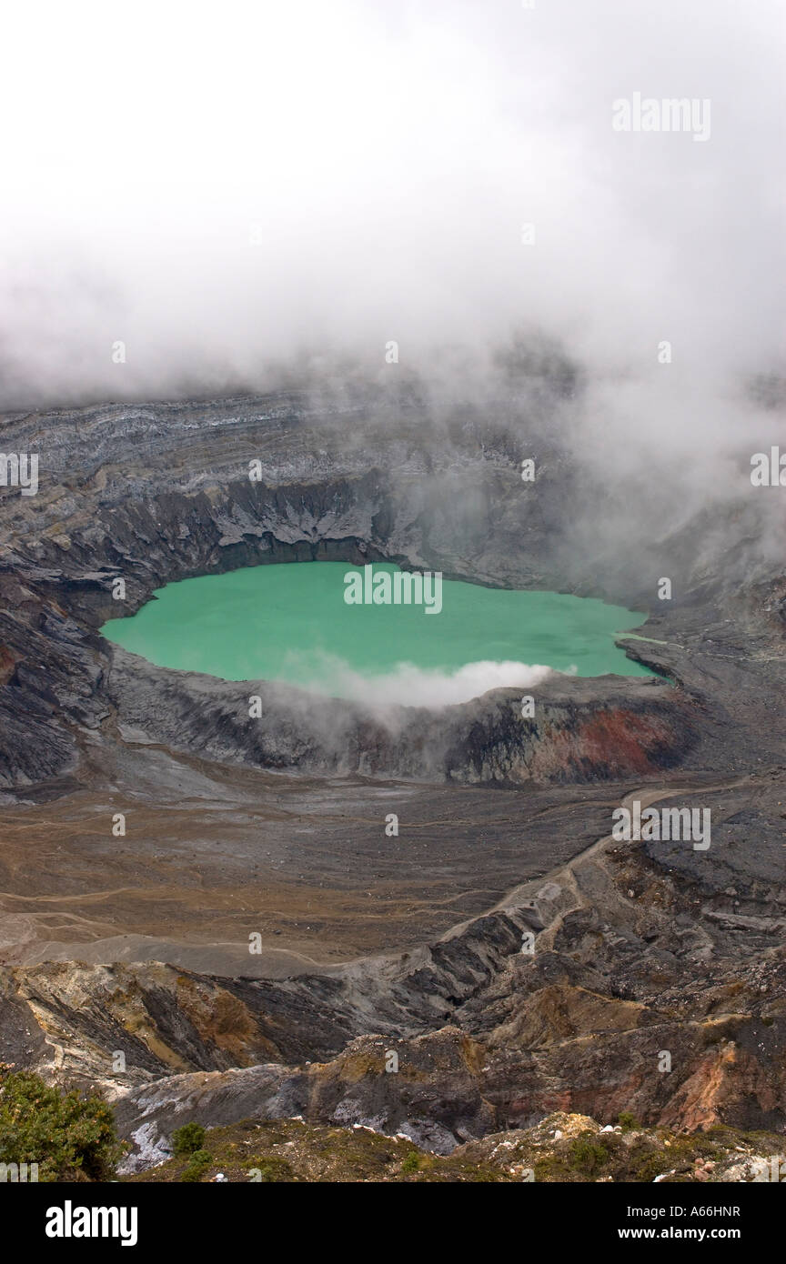 Rainfed lagoon in Botos Crater at Poás Volcano, Costa Rica - Stock Image