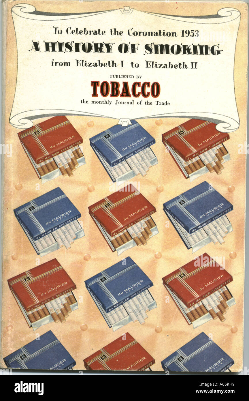 A History of Smoking published by Tobacco to Celebrate the Coronation 1953 - Stock Image