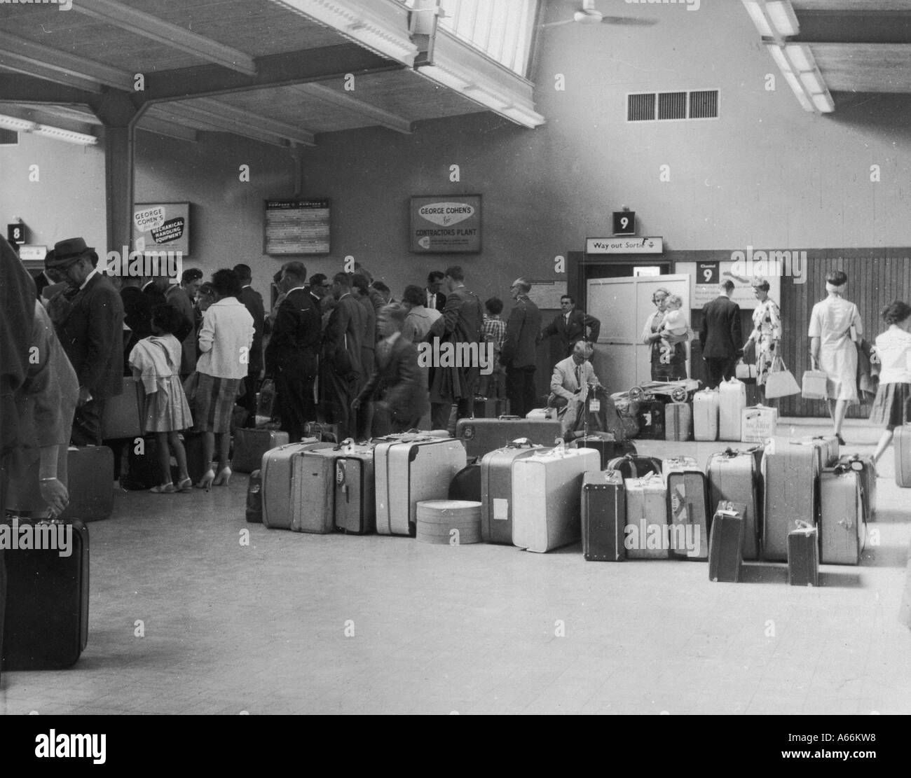 Customs At Heathrow - Stock Image