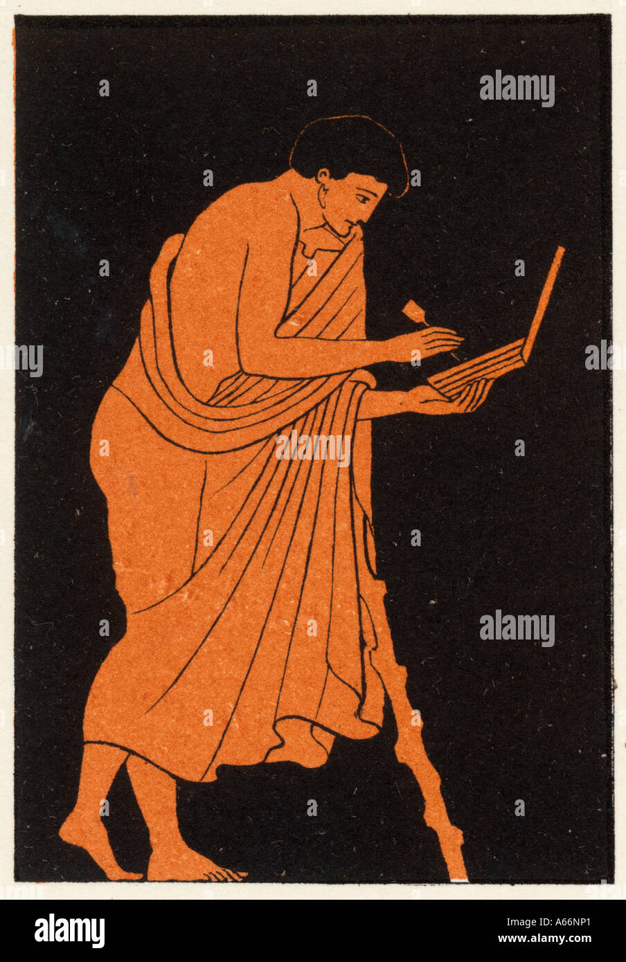 Ancient Greek Writing - Stock Image