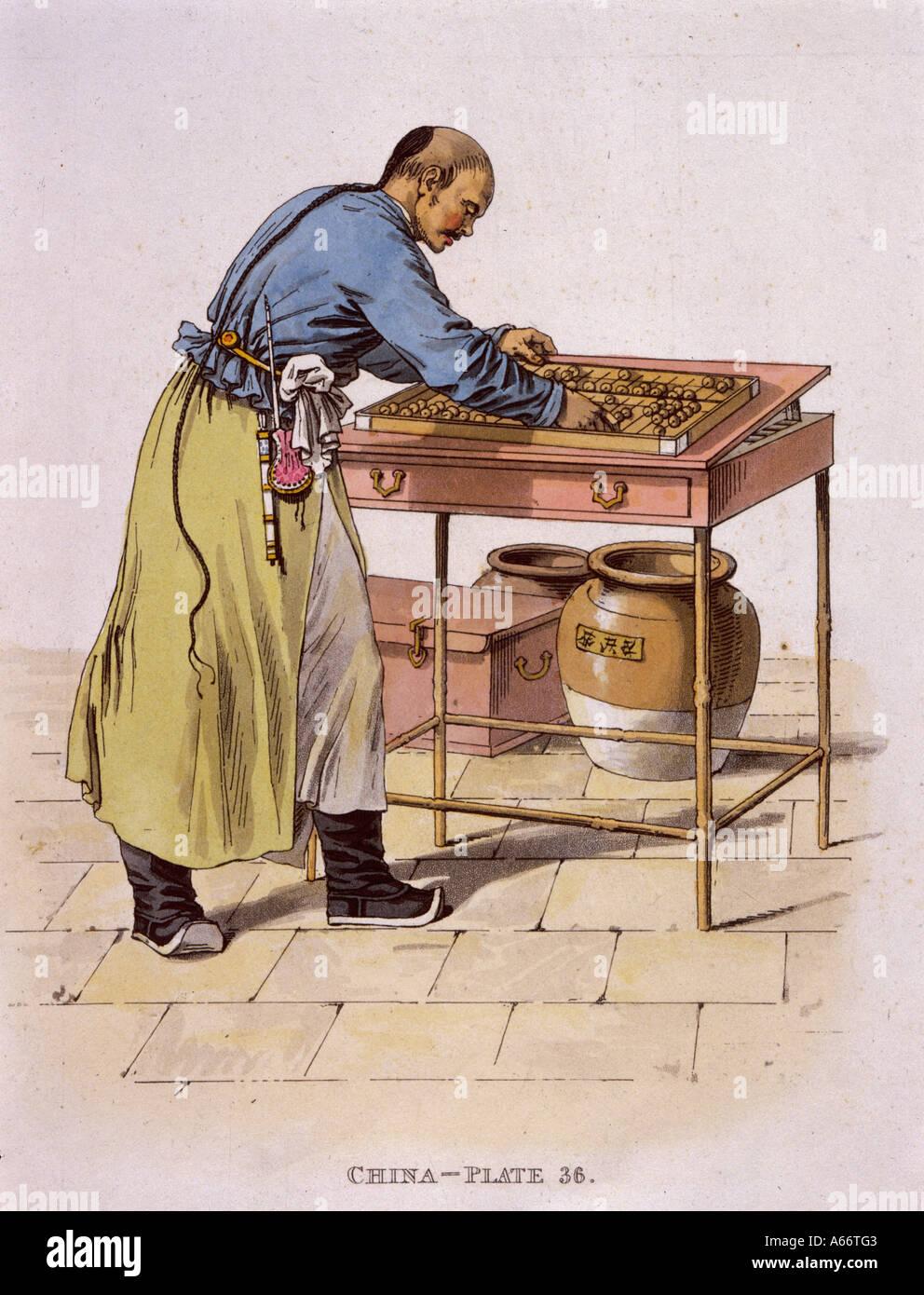 Chinese Abacus 1814 - Stock Image