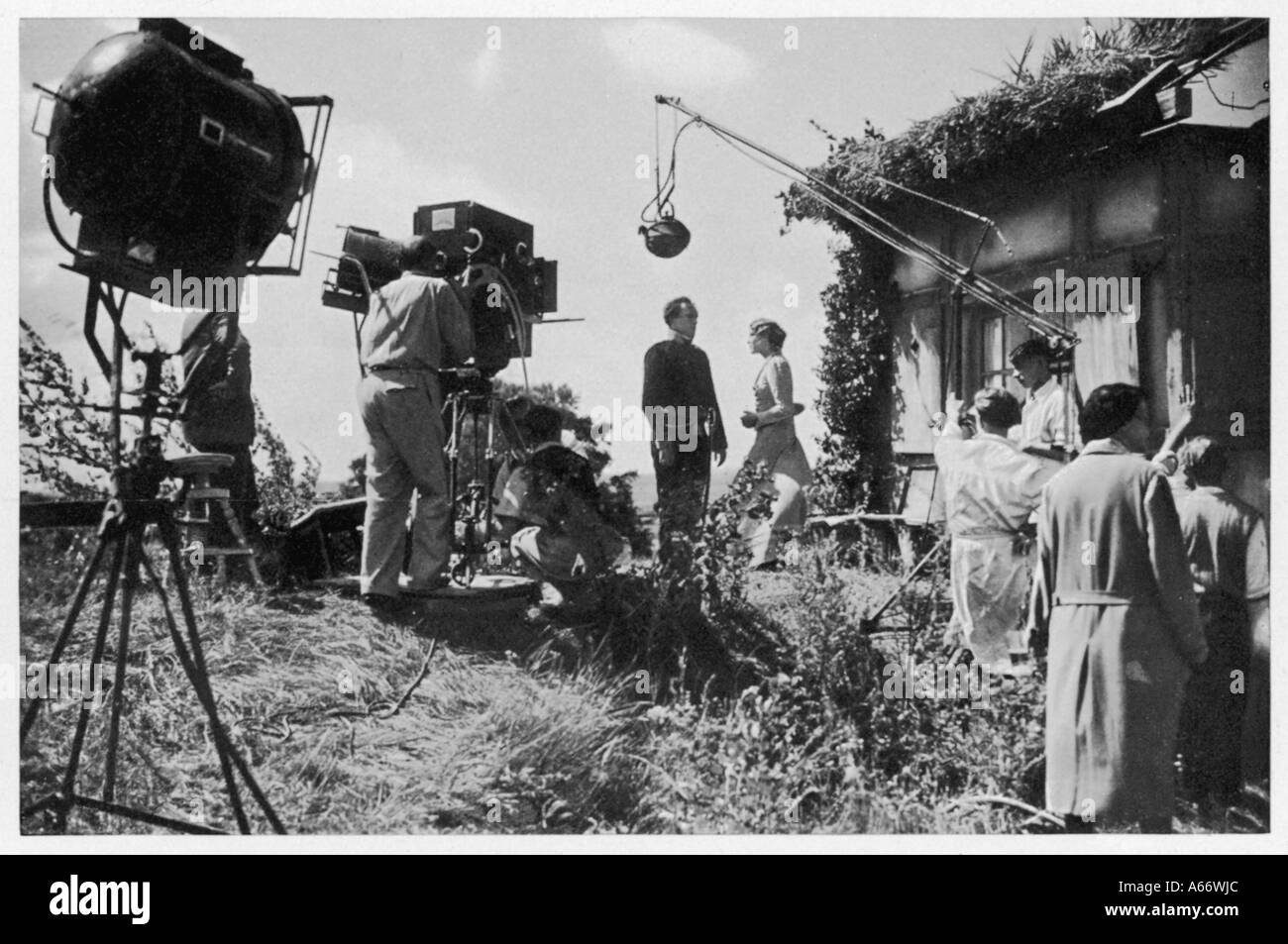 Location Filming 1935 - Stock Image