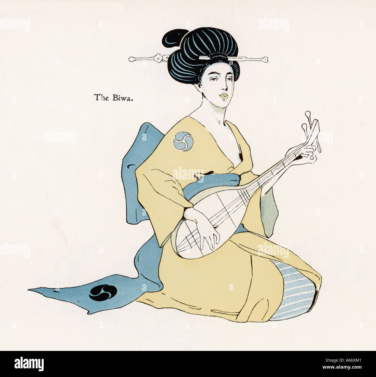 Japan The Biwa - Stock Image