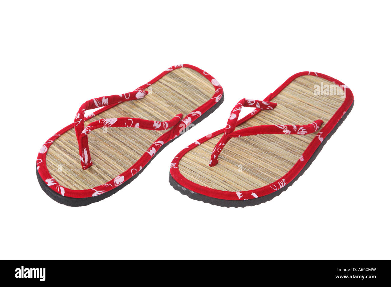 Sandals cut out on white background - Stock Image
