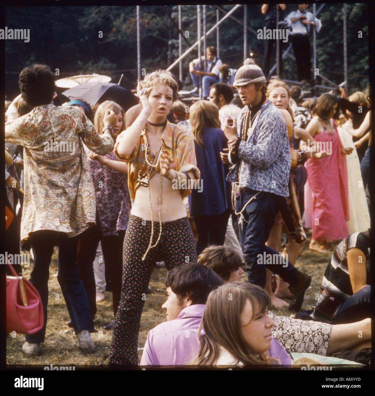 Hippies At Woburn 1967 - Stock Image